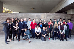 The first cohort of bioengineering undergraduate students in front of McGill's Wong Building in the Fall of 2016.